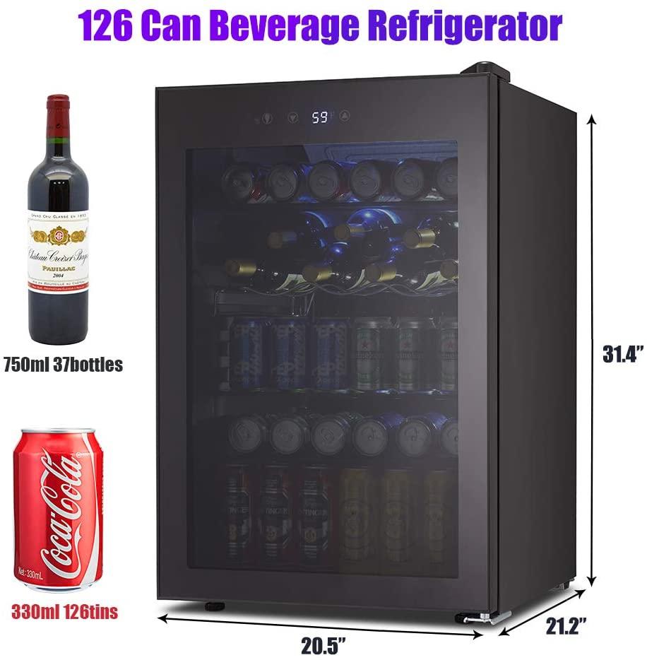 Kismile 4.5 Cu.ft Beverage Refrigerator/ Cooler Specs