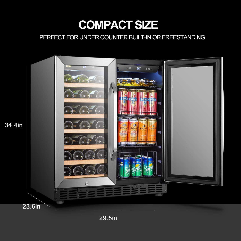 Lanbo Dual Zone Beverage Refrigerator/ Cooler Specs