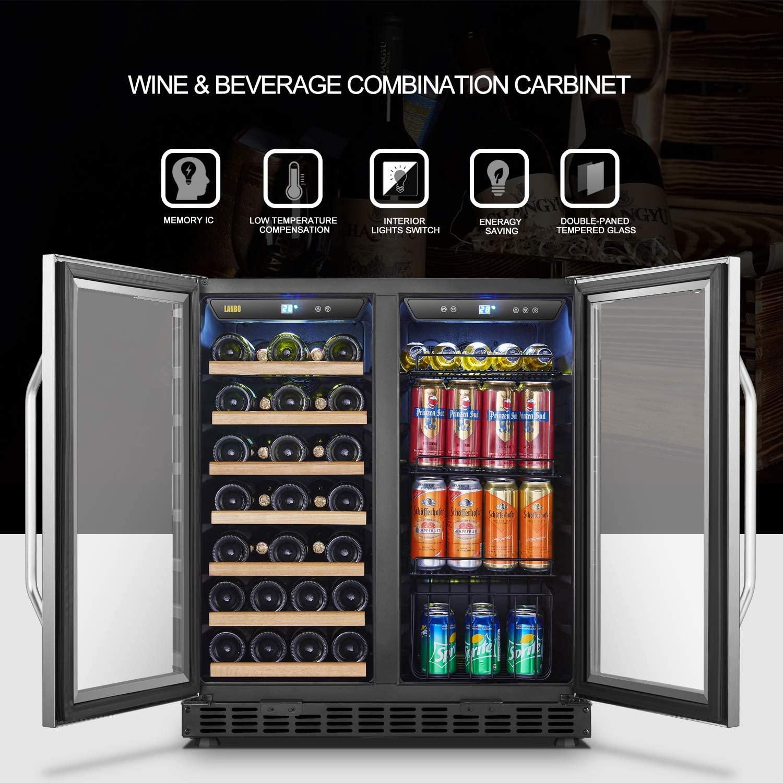 Lanbo Dual Zone Beverage Fridge Cooler Review 2021