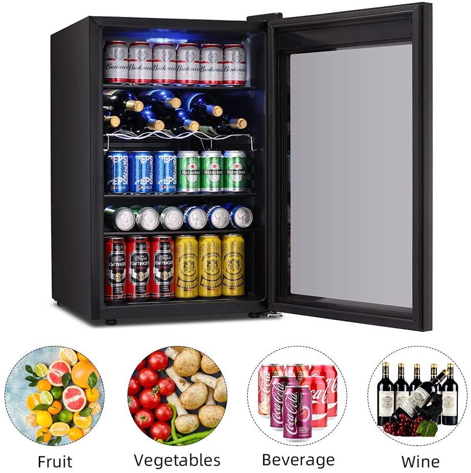 Kismile 4.5 Cu.ft Beverage Refrigerator Cooler Review 2021