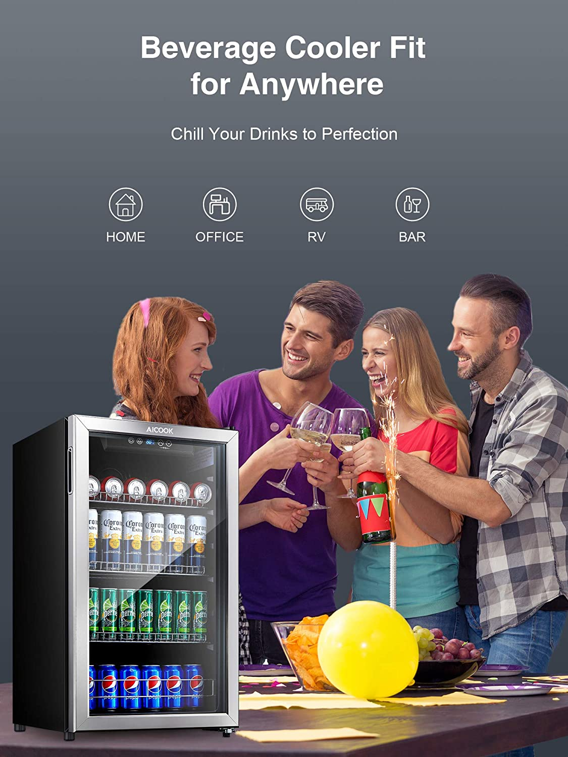 Aicook Beverage Refrigerator and Cooler Review 2021