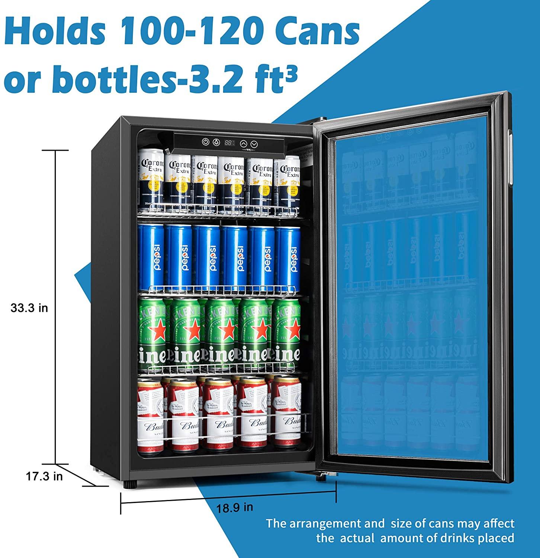 Euhomy Beverage Refrigerator Cooler Specs