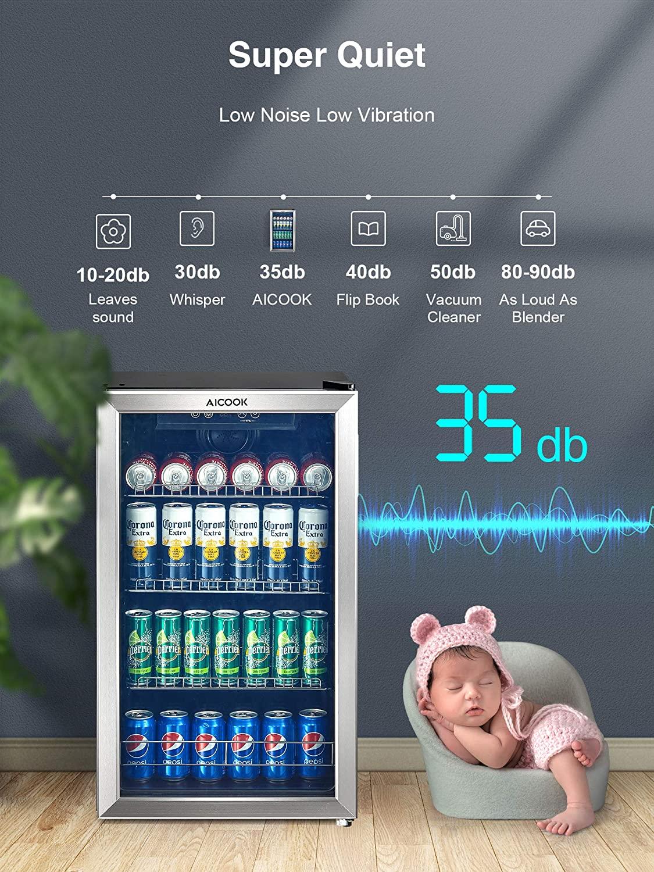 AICOOK /125SE Beverage Refrigerator and Cooler