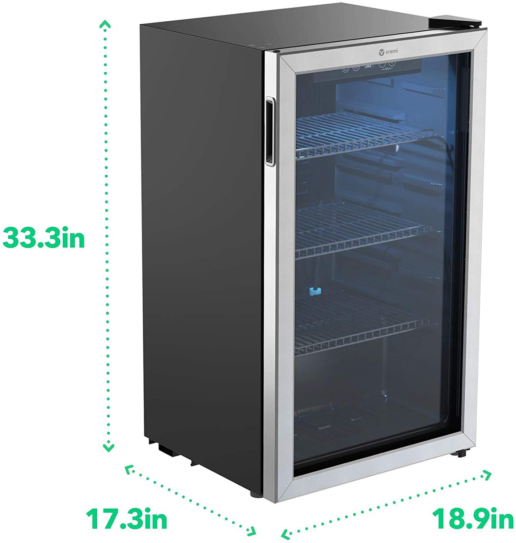 Vremi 120-can 2.7 Cu Ft Beverage Refrigerator specification 2021