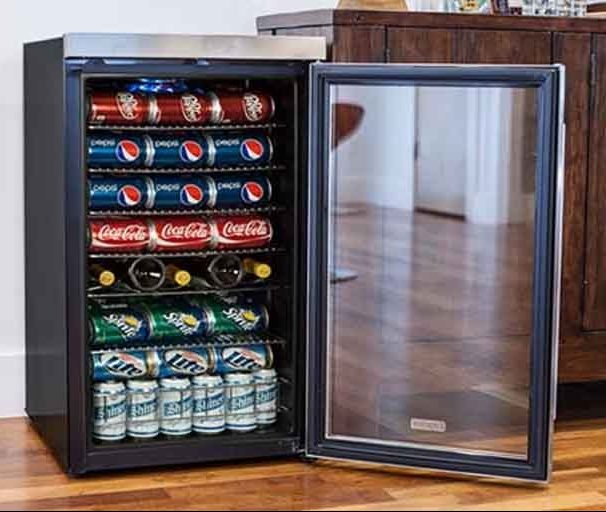 hOmeLabs 120 Can Mini Beverage Cooler review 2021