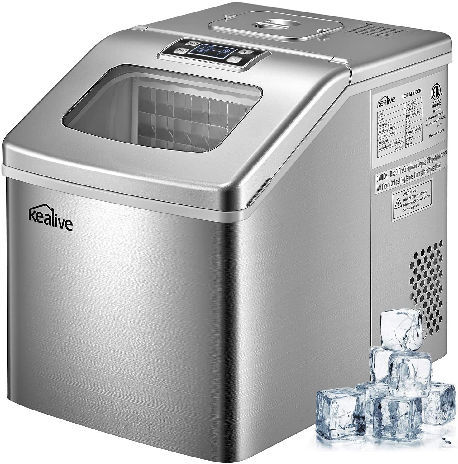 Kealive 40lbs/24H Countertop Ice Maker Review
