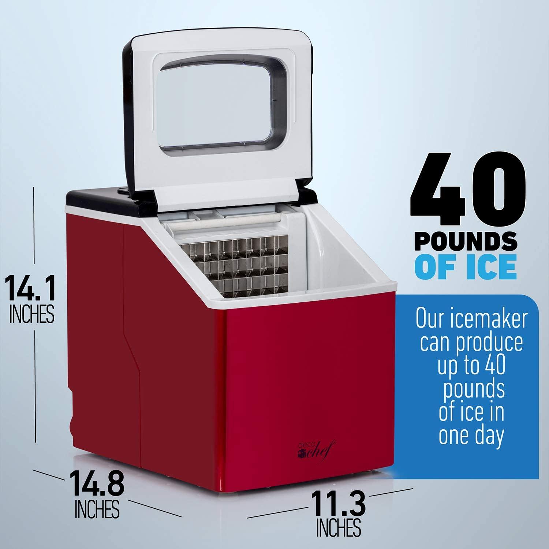 Deco Chef Countertop 40LB Ice Maker Specs