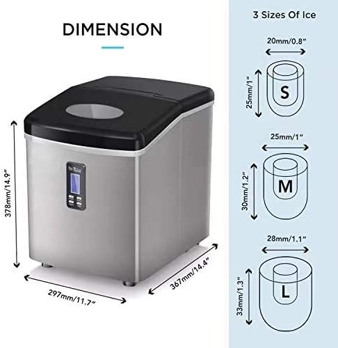 COOLLIFE Ice Maker Machine for Countertop Specs
