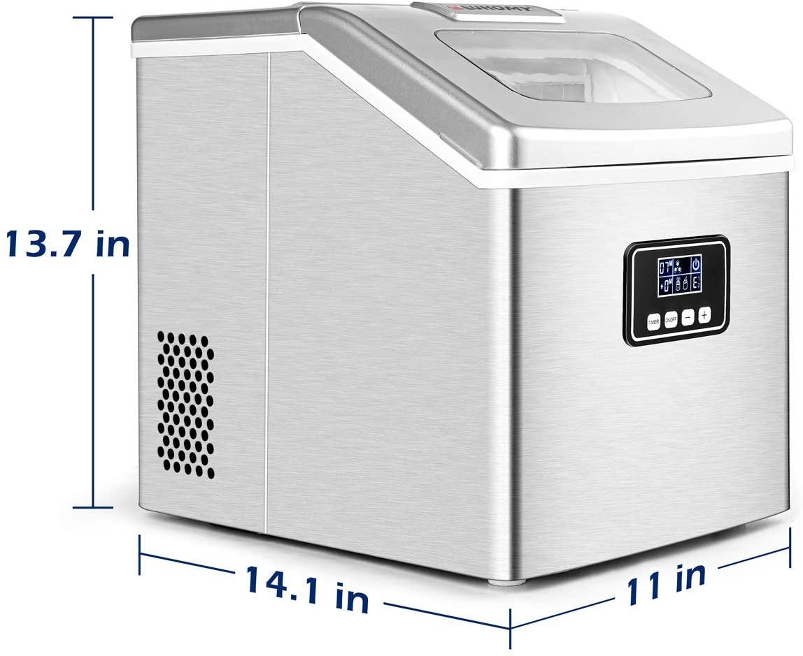 Euhomy Countertop Ice Maker Machine Specs