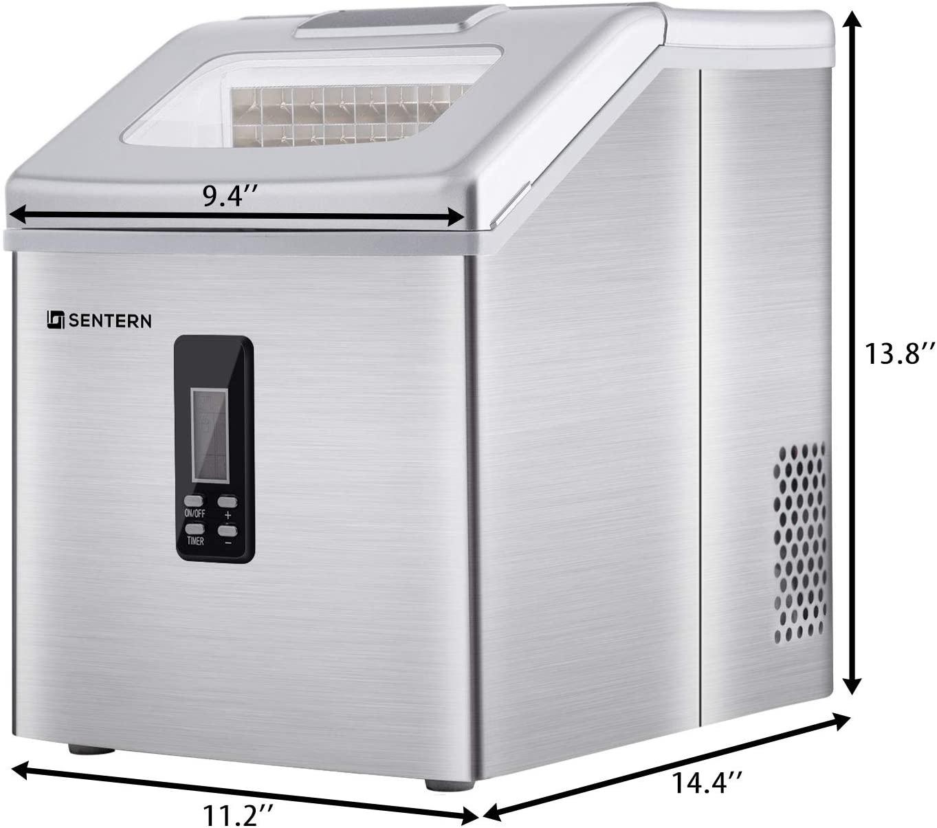 Sentern Ice Maker Machine Countertop, 40Lbs/24H Specs