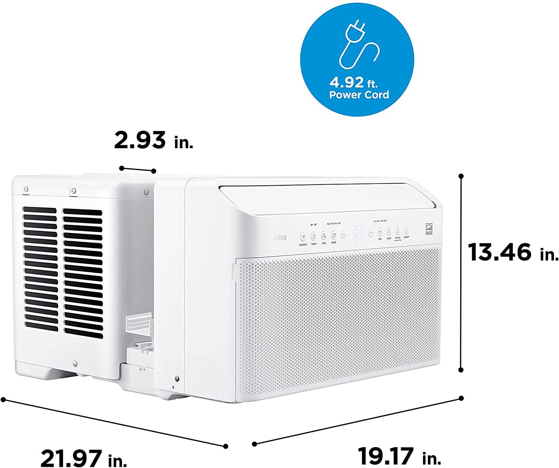Midea U Inverter Window Air Conditioner 8,000BTU Specs