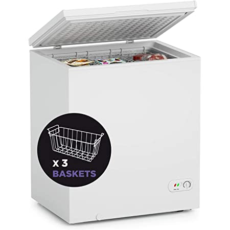 MOOSOO Chest Freezer, 5.0 Cubic Feet Deep Freezer