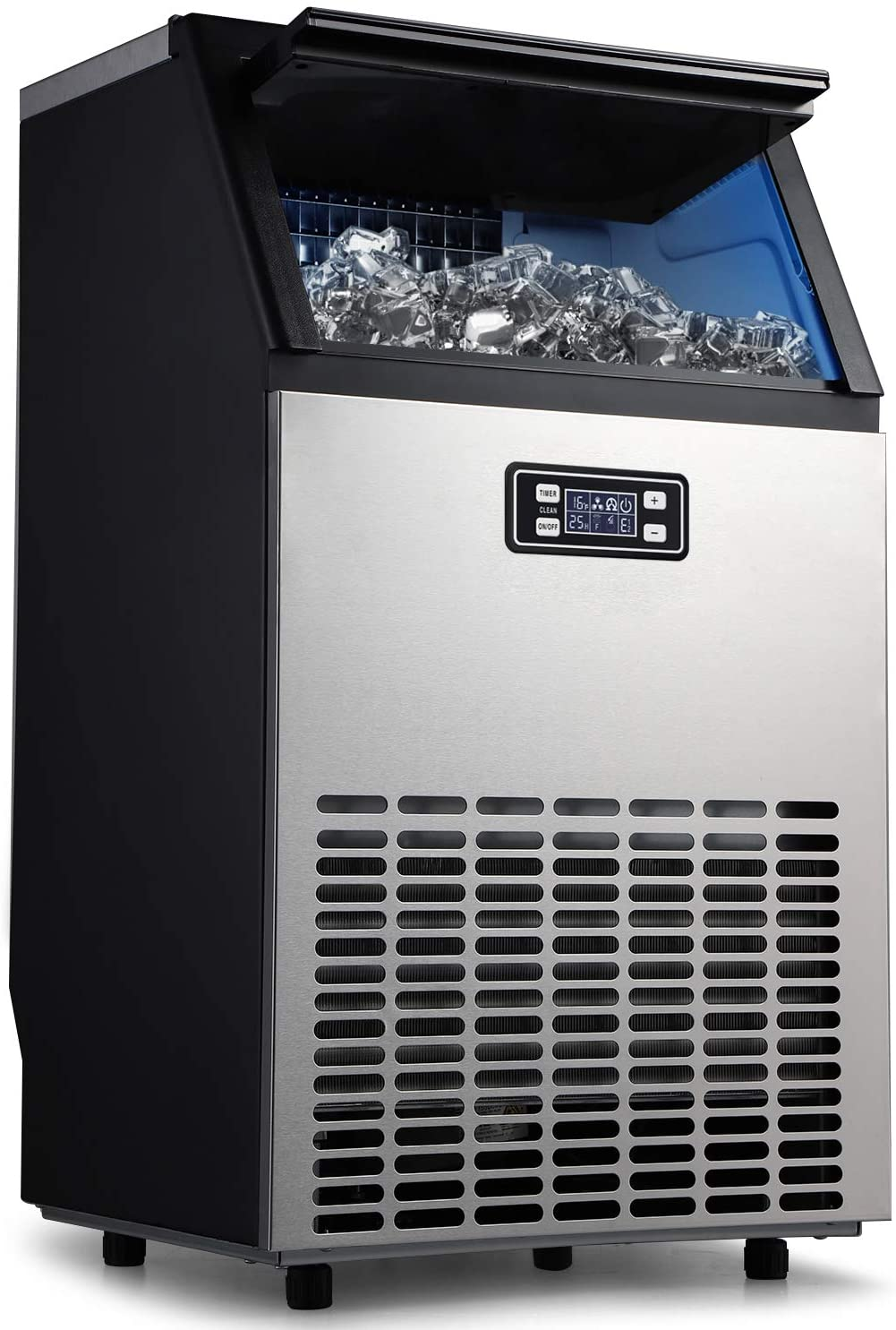ADT Ice Mahcine 100LBS/24H Stainless Steel Commercial Ice Maker