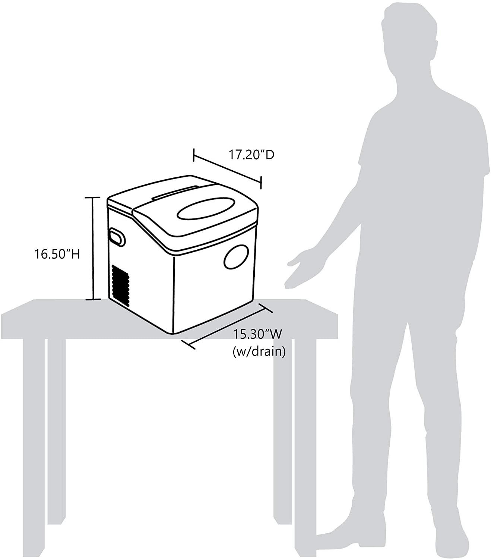 50 Lbs/ 24 NewAir Portable Ice Maker Specs