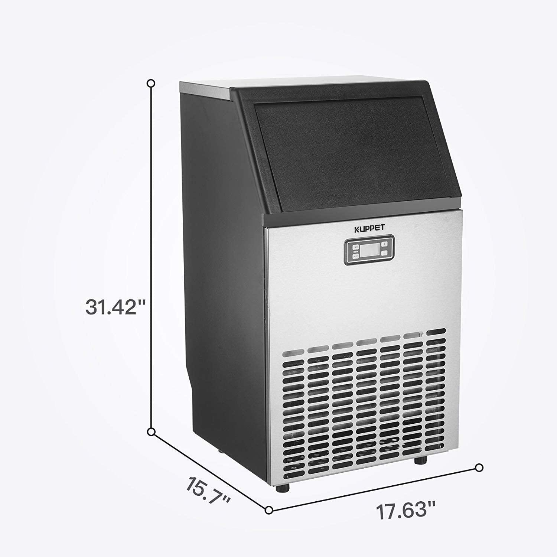 KUPPET Stainless Steel Commercial Ice Maker Specs