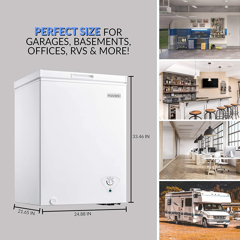 Igloo ICFMD50WH 5.0 Cu. Ft. Chest Freezer Specs