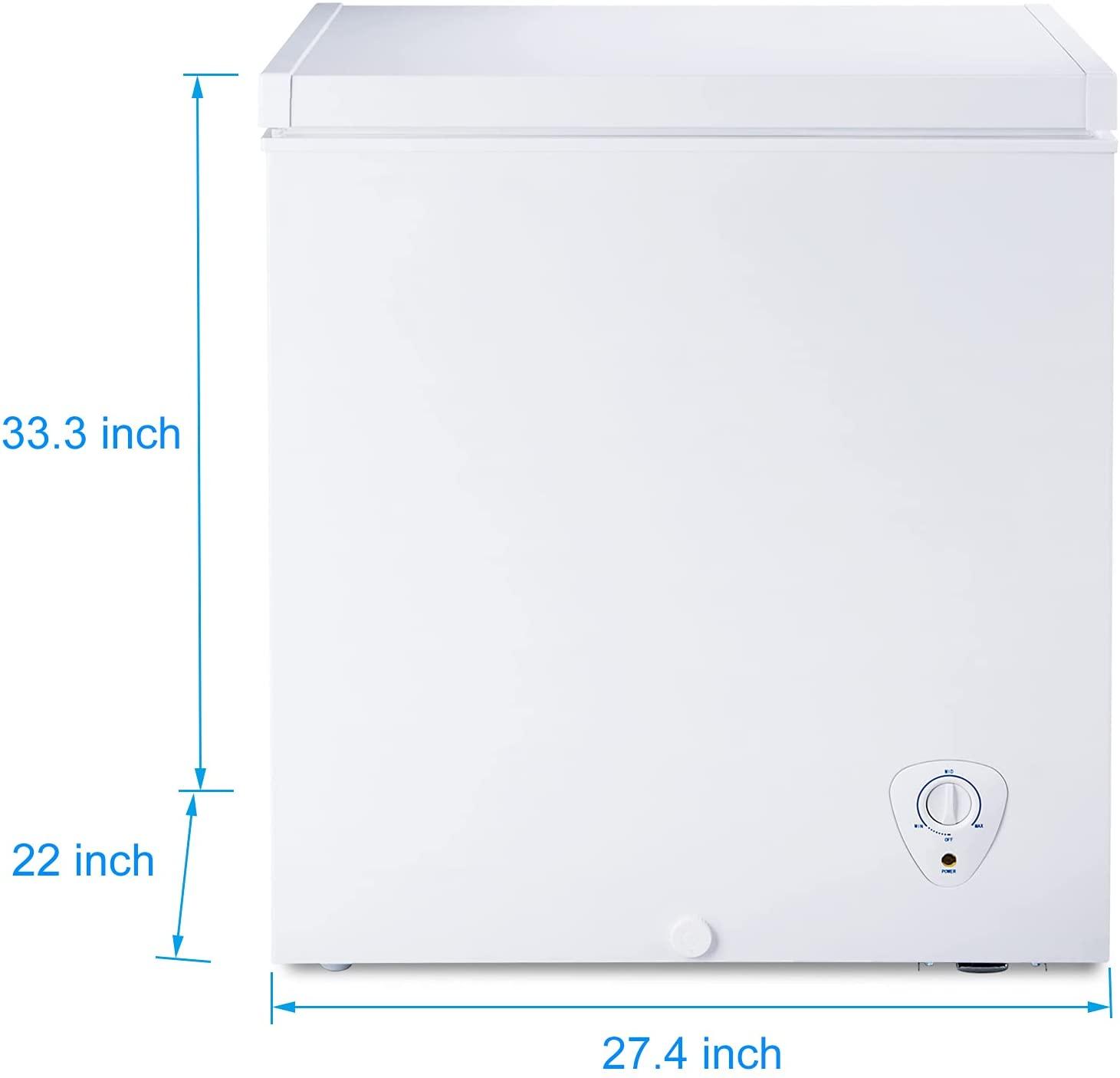 SMETA 5 Cu.Ft Chest Freezer Specs