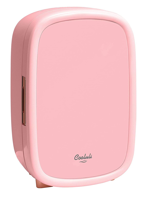 Cooluli Beauty Pink 12-liter Skincare Fridge for Makeup Storage