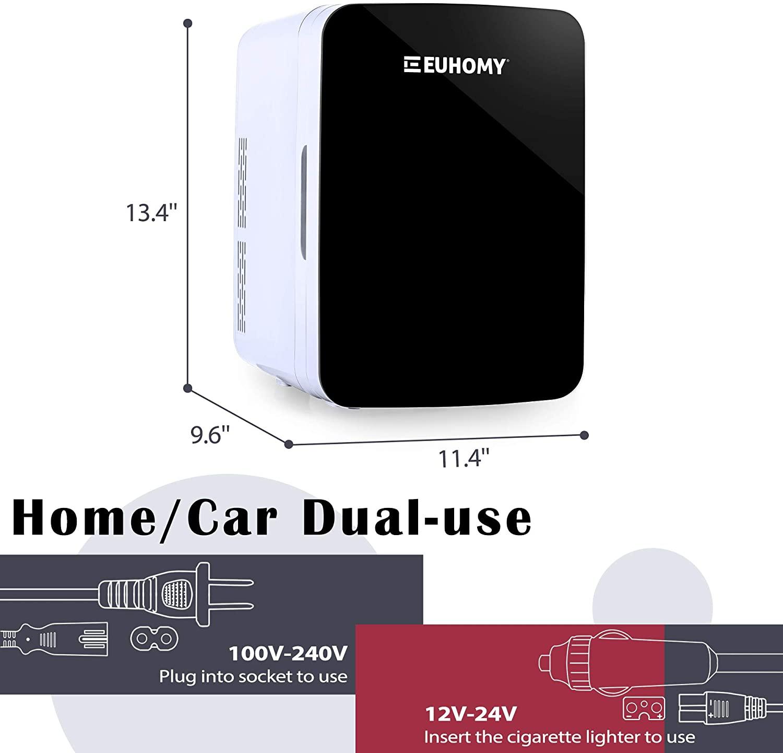 Euhomy Mini fridge 10 L Mini skincare Specs
