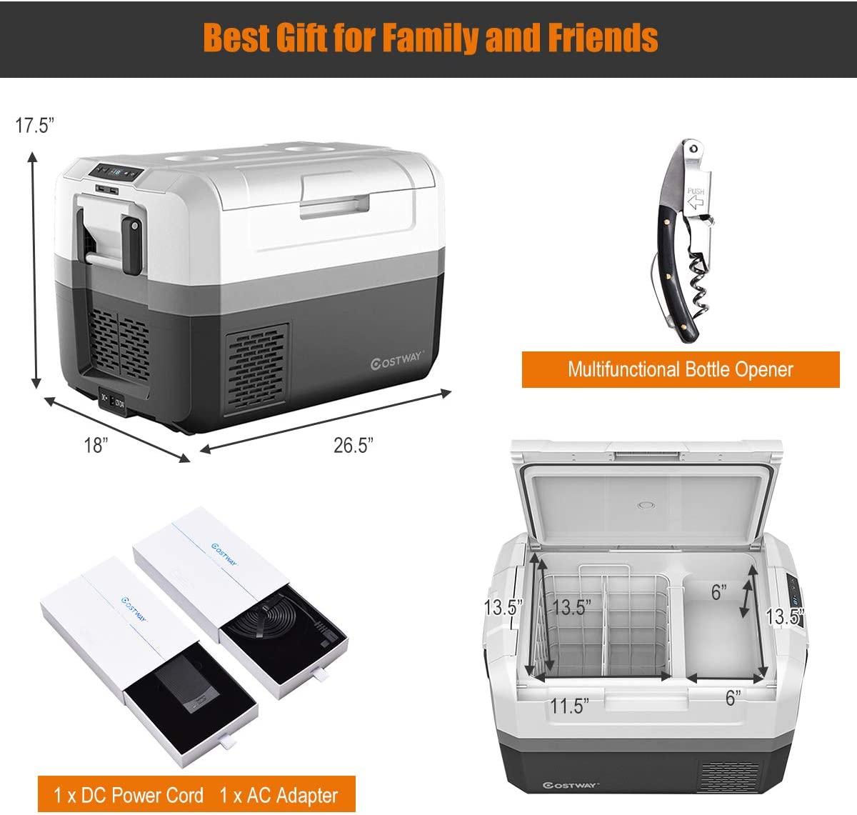 COSTWAY Portable Car Refrigerator Specs