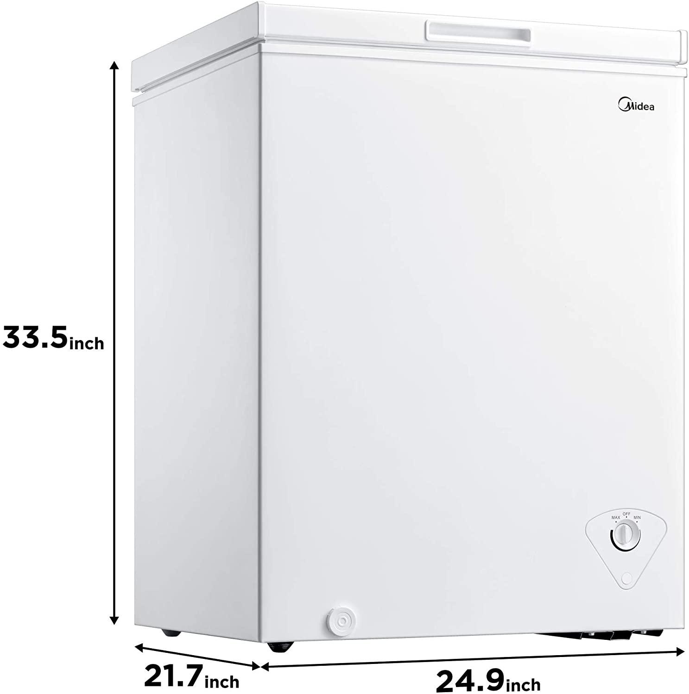 Midea MRC050S0AWW Chest Freezer Specs 2021