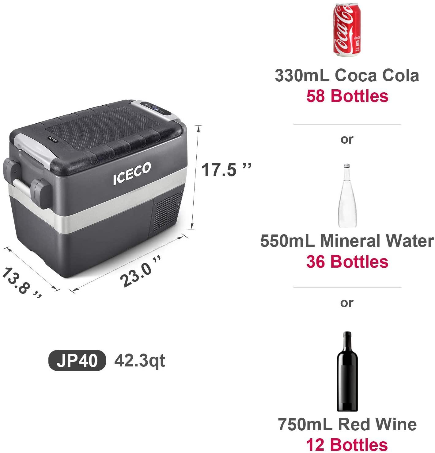 ICECO JP40 Portable Refrigerator Fridge Freezer Specs