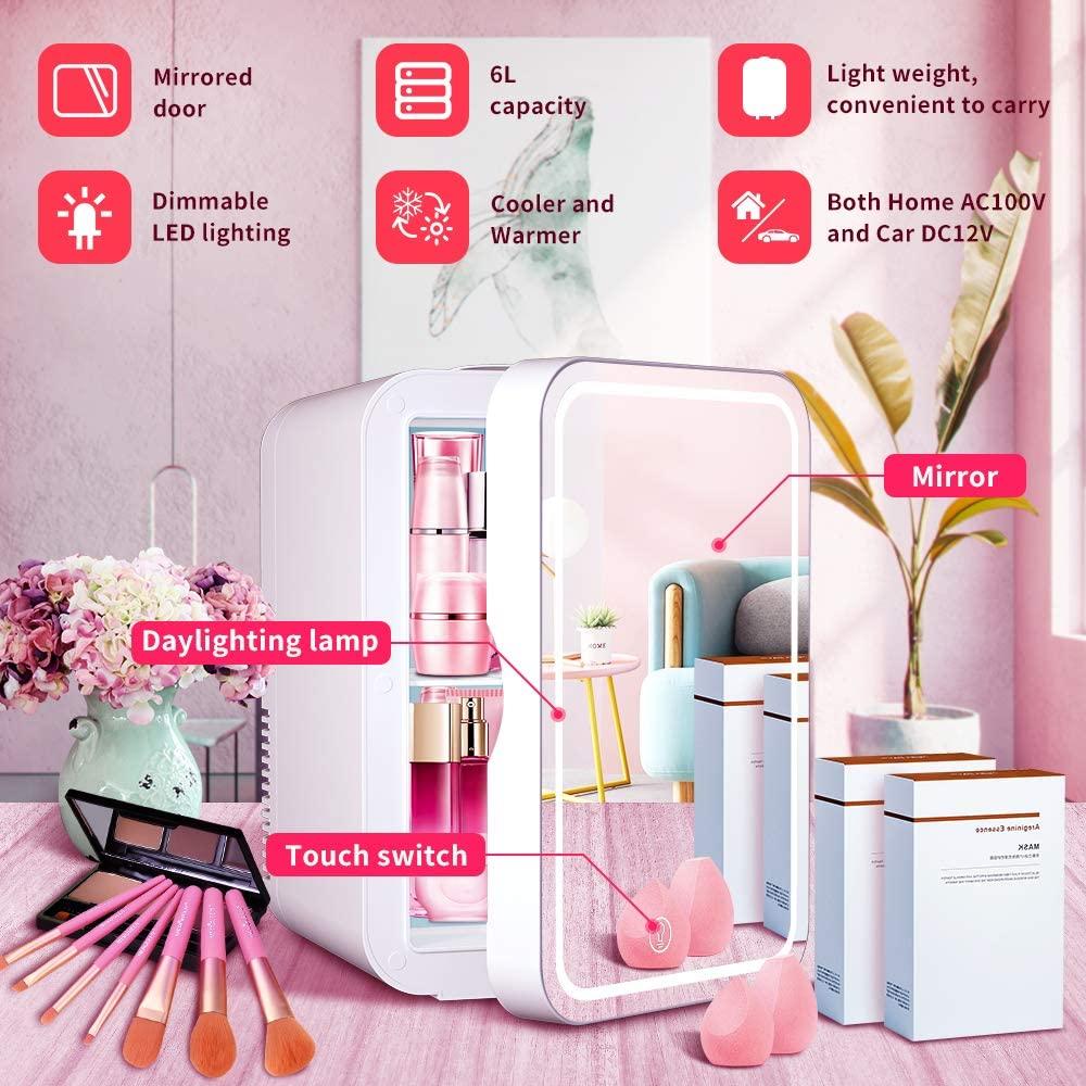 WERSEON Mini Fridge 6 Liter Portable Beauty Makeup Skincare Cosmetics Refrigerator Specs
