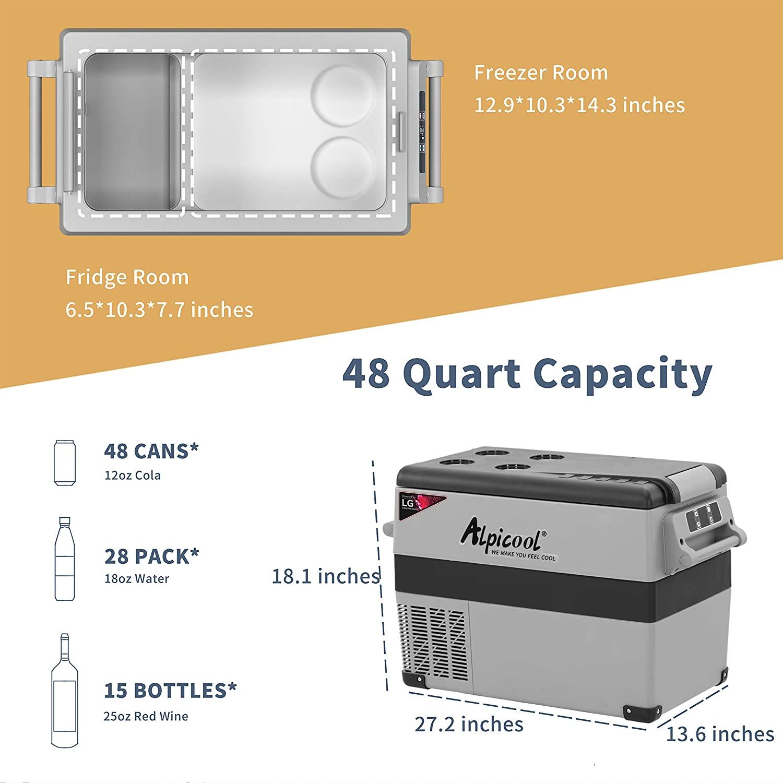 Alpicool CF55 Portable Refrigerator Specs