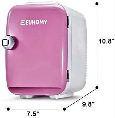 Euhomy Mini fridge for bedroom, 4 L / 6 cans Portable fridge Specs