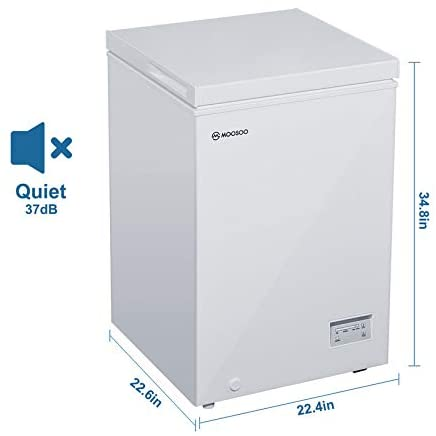 MOOSOO Chest Freezer 3.5 Cu. Ft. Specs
