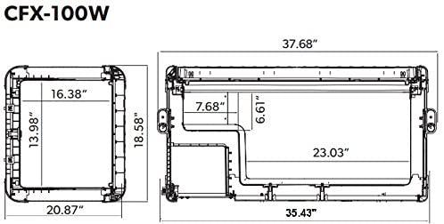 Dometic CFX 100W 12v  Portable Cooler, Fridge Freezer Specs