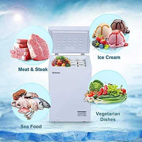 MOOSOO Chest Freezer 3.5 Cu. Ft.