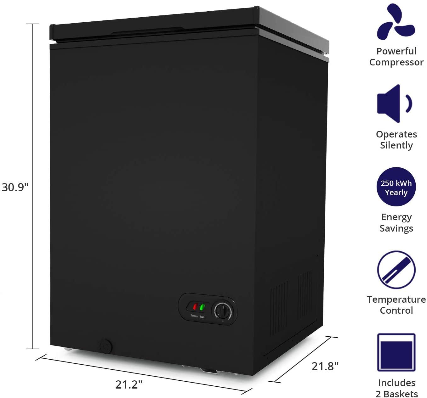 Northair 3.5 Cu Ft Chest Freezer  Specs