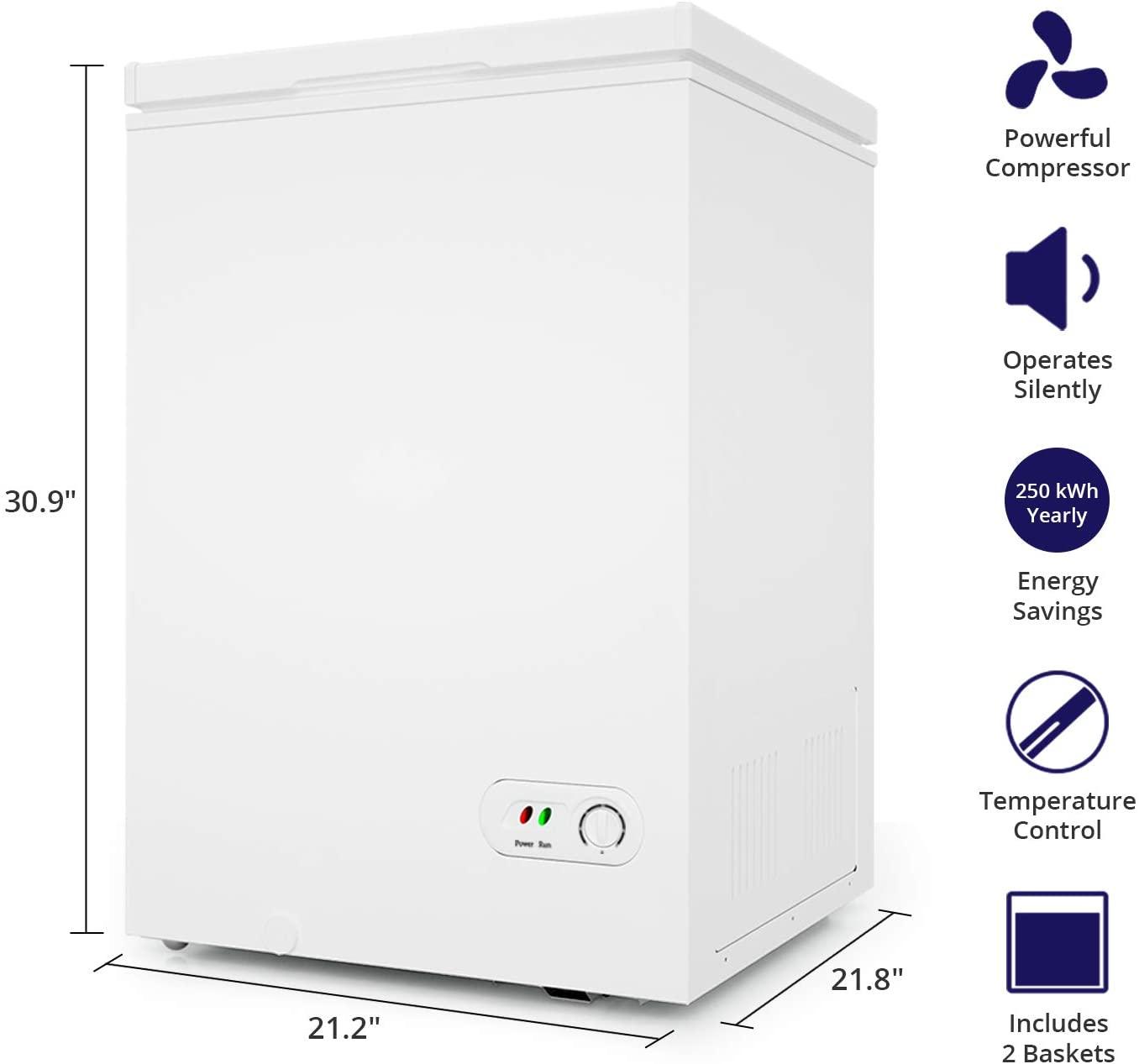 Northair Chest Freezer - 3.5 Cu Ft  Specs