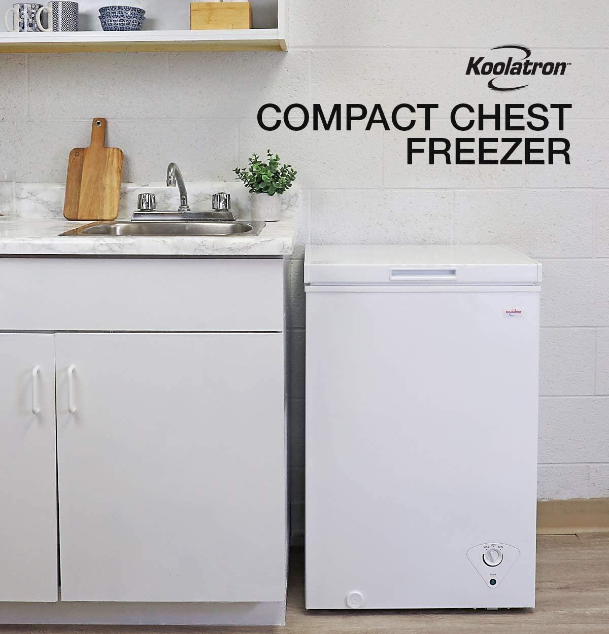 Koolatron KTCF99 3.5 Cu. Ft. (99 Liters) Chest Freezer