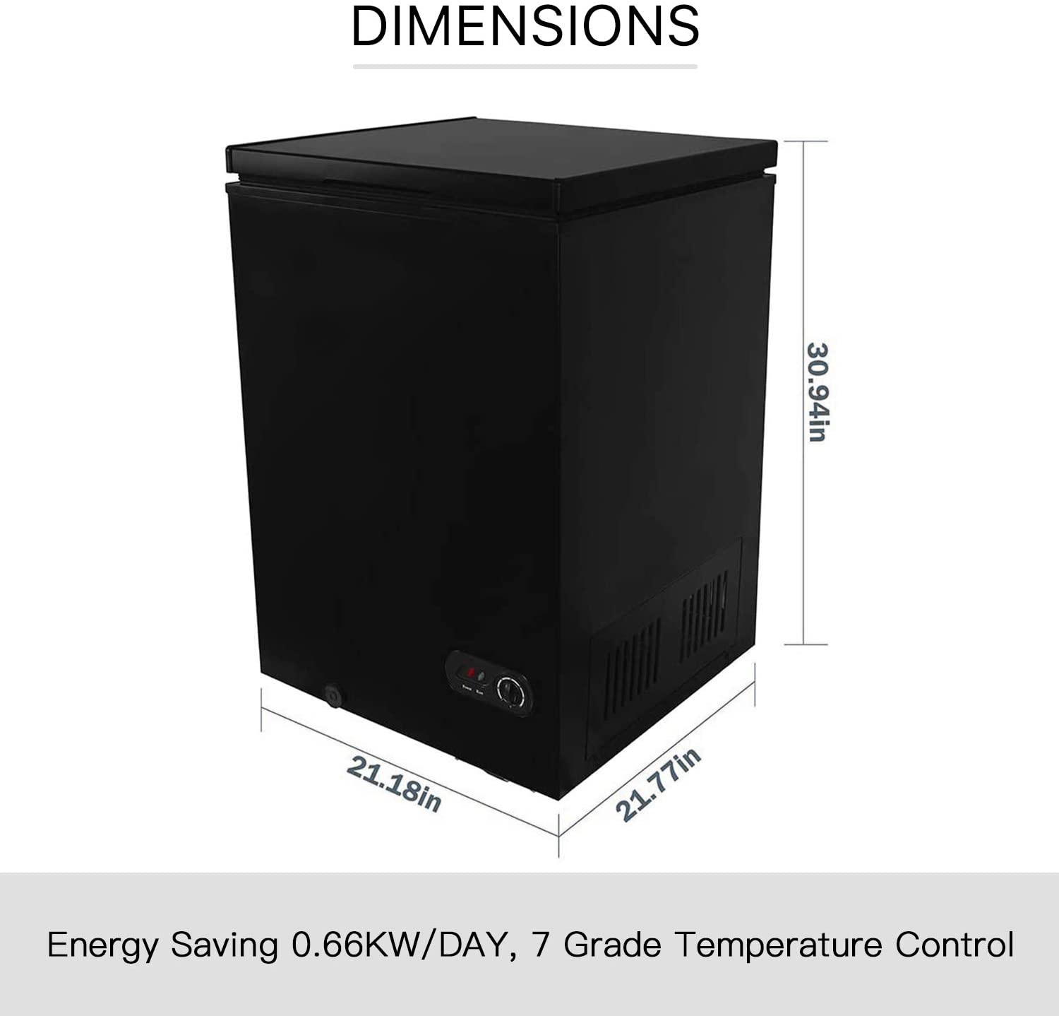 R.W.Flame Commercial Chest Freezer Specs