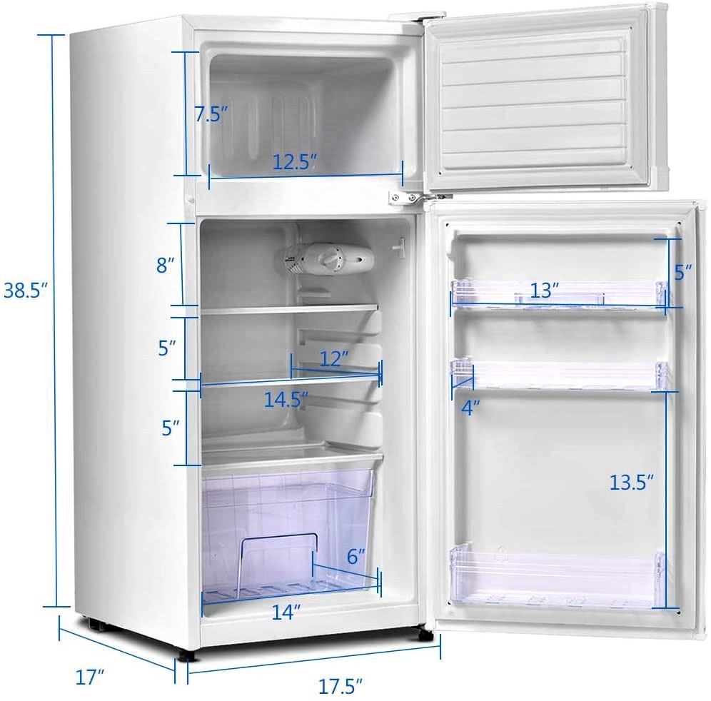 Safeplus 3.4 cu ft. Unit Cold-rolled Sheet Mini Refrigerator with Freezer Specs