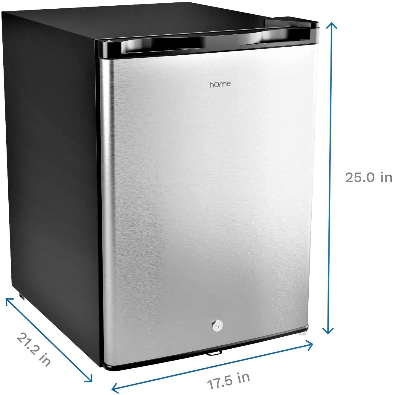 hOmelabs  2.1 Cu Ft  Upright Freezer - Reversible Single Door Vertical Freezer Specs