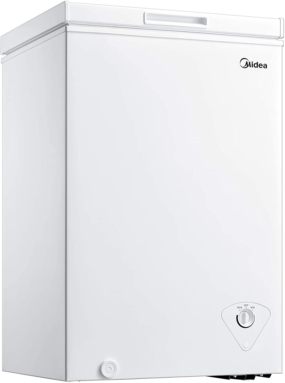 Midea MRC04M3AWW Single Door Chest Freezer, 3.5Cu. Ft.