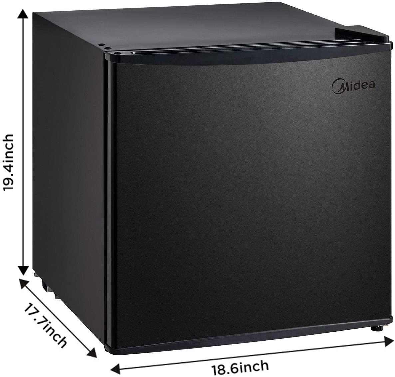 Midea MRU01M3ABB Freezer, 1.1 Cu.ft, Black Specs