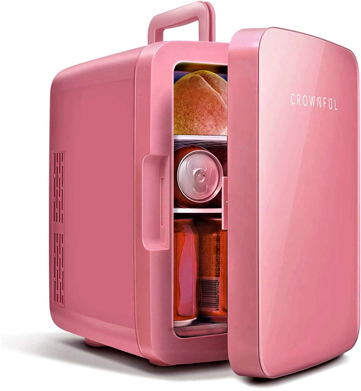 Crownful Mini Fridge, 10 Liter/12 Can Portable Cooler and Warmer