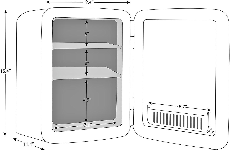 Caynel Mini Fridge Cooler and Warmer Specs