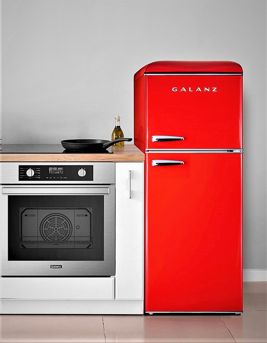 Galanz GLR46TRDER Mini Fridge with Dual Door