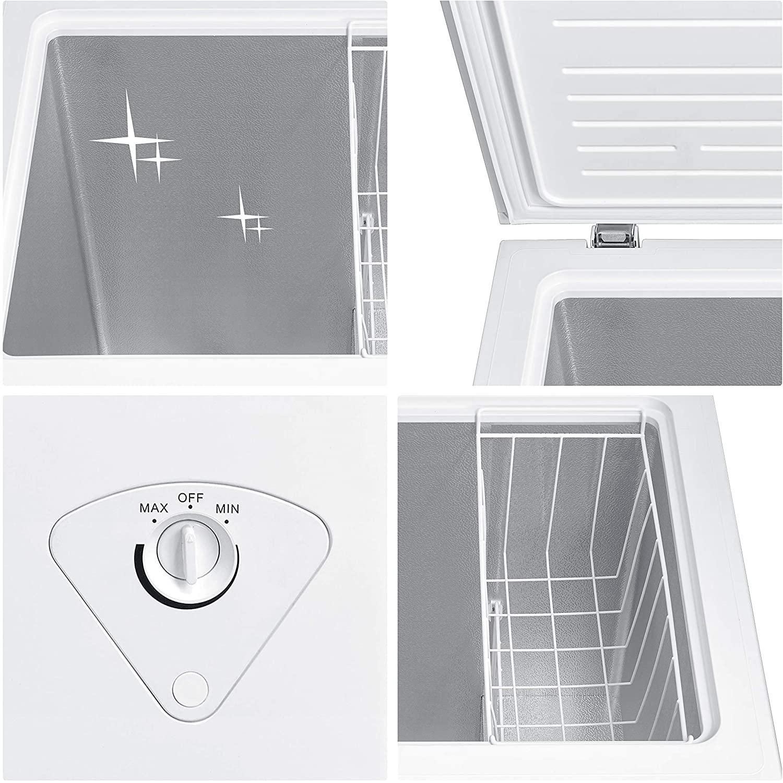 Midea MRC04M3AWW Single Door Chest Freezer, 3.5Cu. Ft. Specs